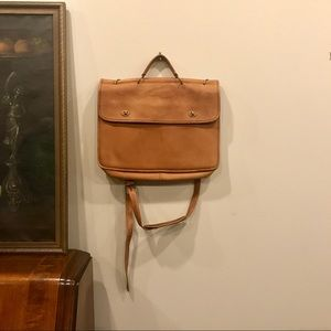 VTG Leather Briefcase with Brass Turnlocks